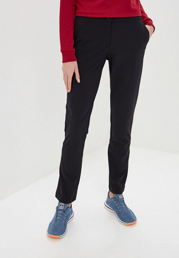 женские спортивные спортивные брюки jack wolfskin, черные