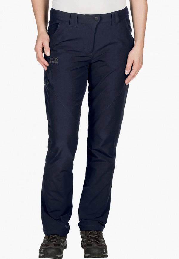 женские спортивные брюки jack wolfskin, синие