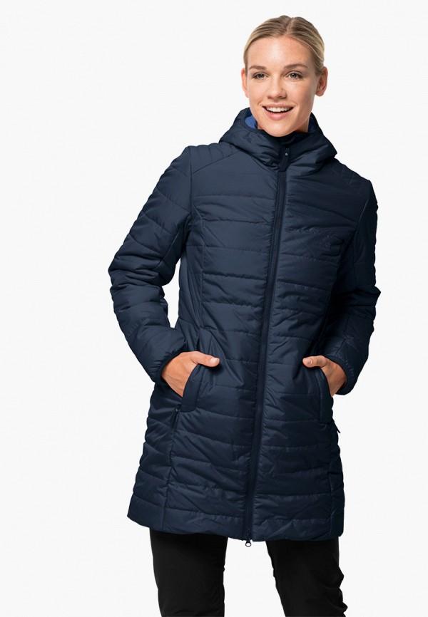 женская куртка jack wolfskin, синяя