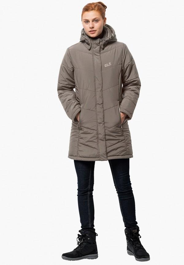 женская куртка jack wolfskin, бежевая