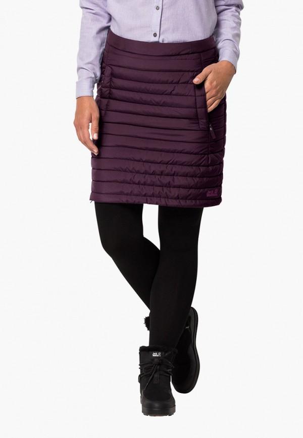 женская спортивные юбка jack wolfskin, бордовая