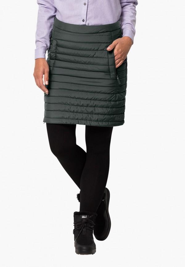 женская спортивные юбка jack wolfskin, зеленая