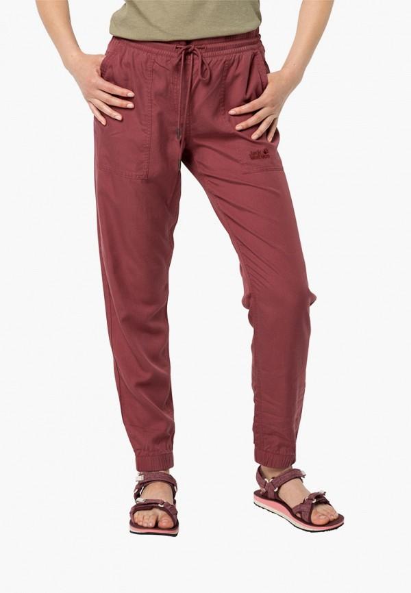 женские брюки jack wolfskin, коричневые