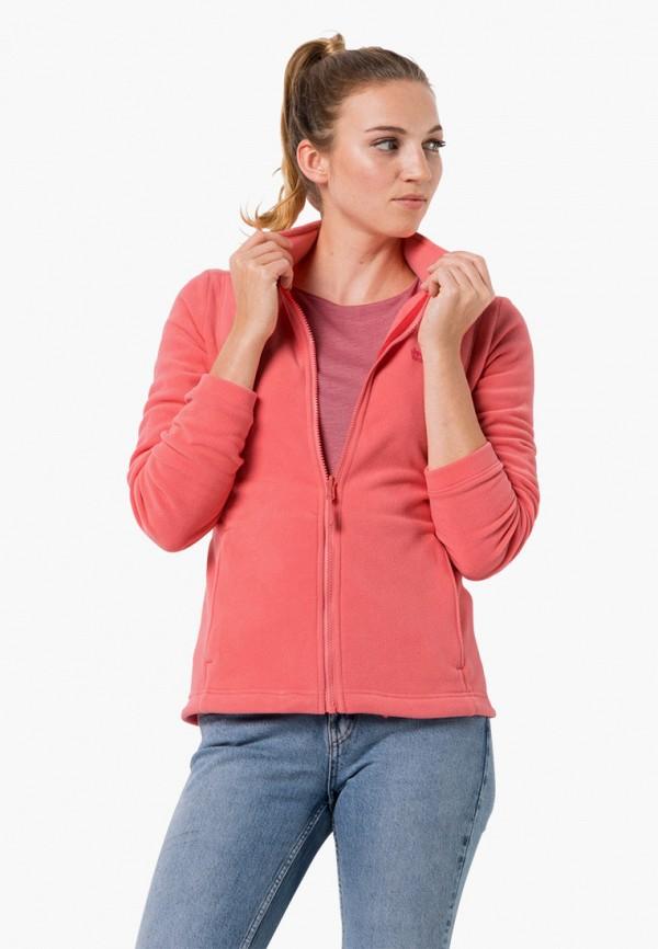 женская олимпийка jack wolfskin, розовая