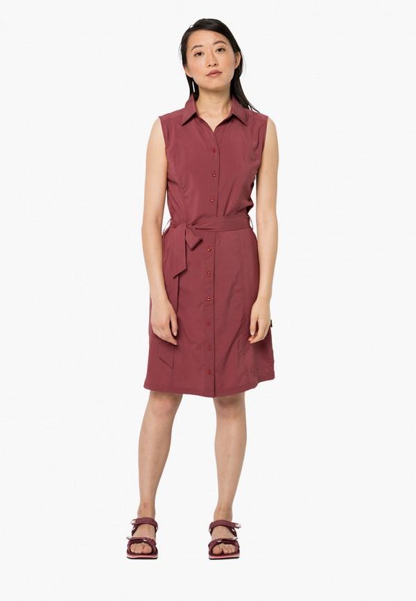 женское платье jack wolfskin, коричневое