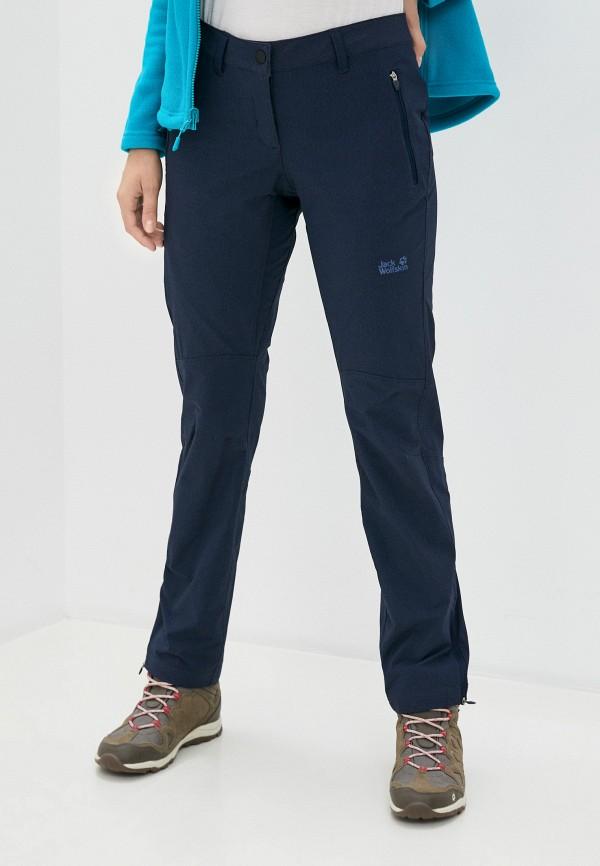 женские брюки jack wolfskin, синие