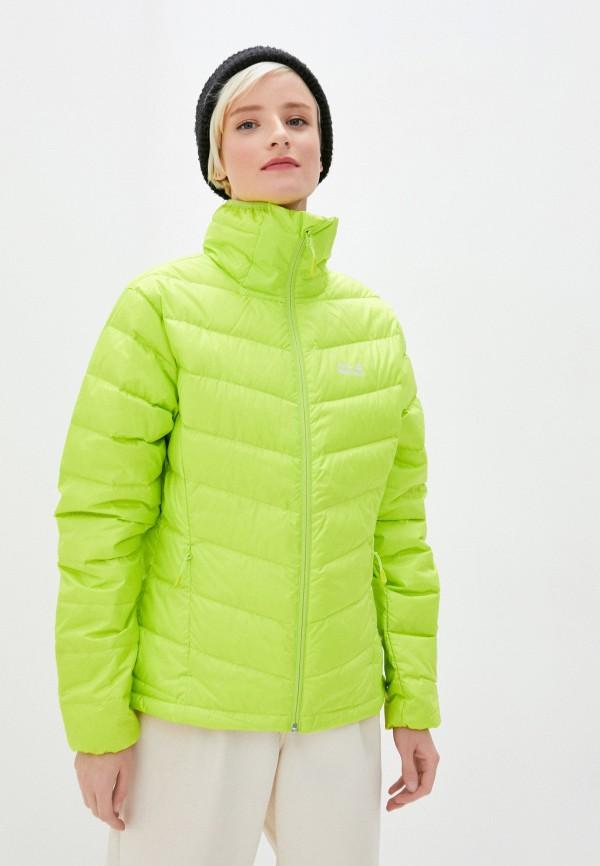 женская куртка jack wolfskin, желтая