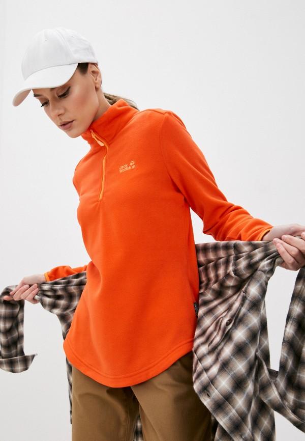 женская олимпийка jack wolfskin, оранжевая