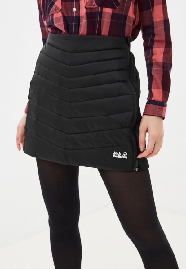 женская спортивные юбка jack wolfskin, черная