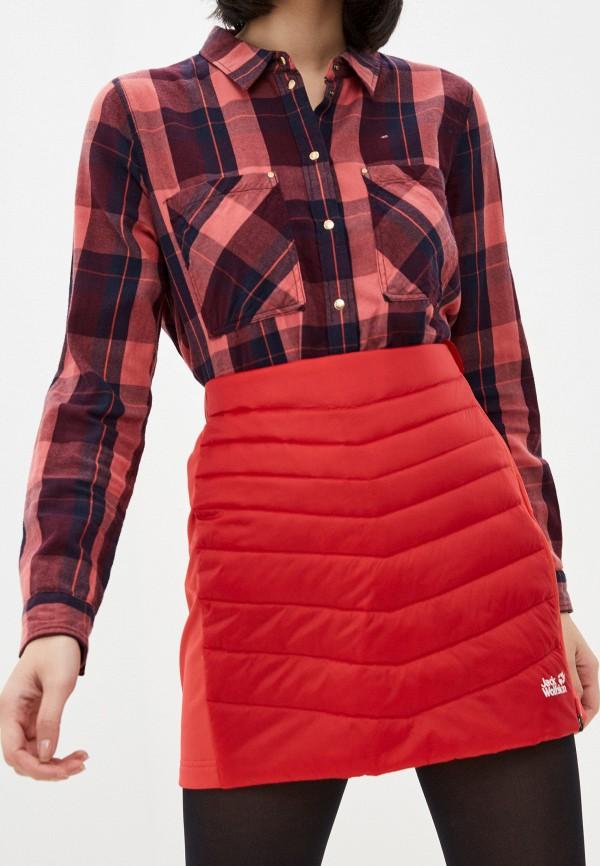женская спортивные юбка jack wolfskin, красная