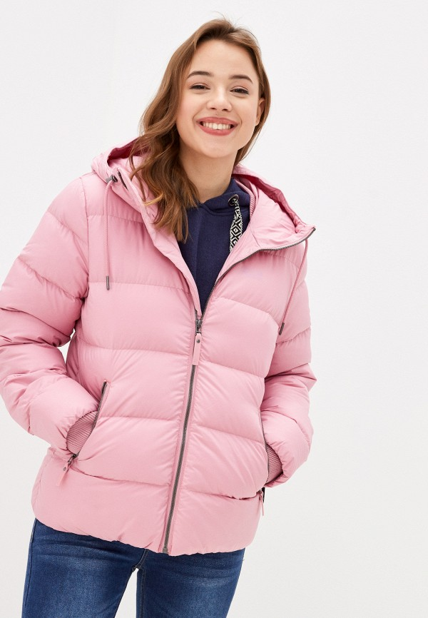 женская куртка jack wolfskin, розовая