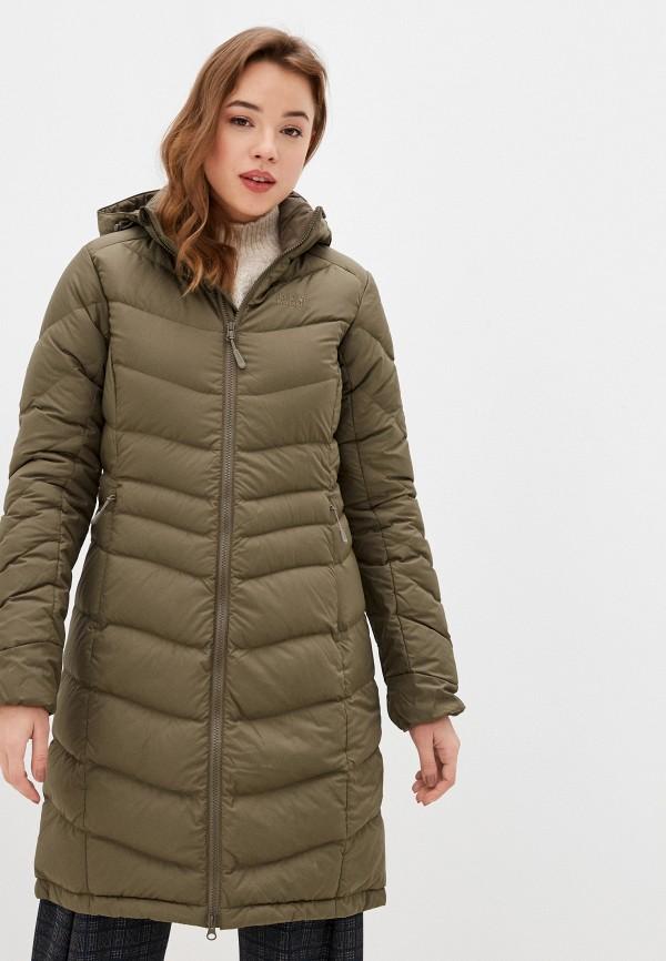 женская куртка jack wolfskin, хаки