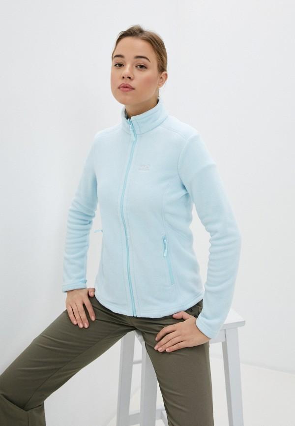женская олимпийка jack wolfskin, голубая