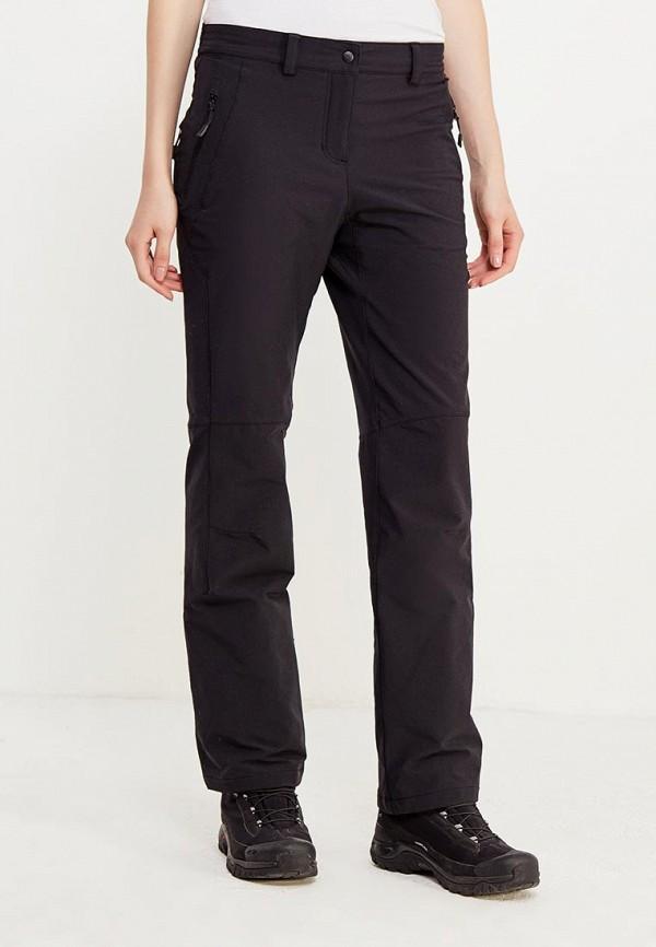 женские спортивные брюки jack wolfskin, черные