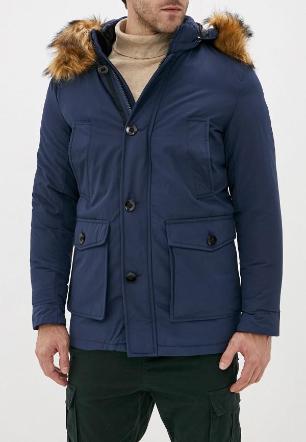 мужская парка jackets industry, синяя