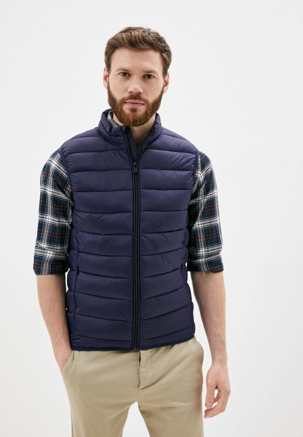 мужской жилет jackets industry, синий