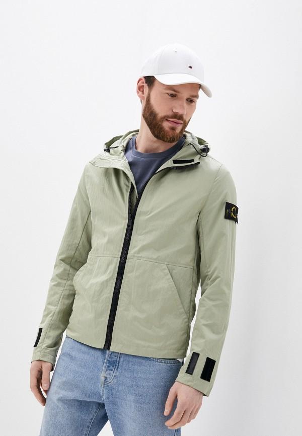 мужская ветровка jackets industry, зеленая