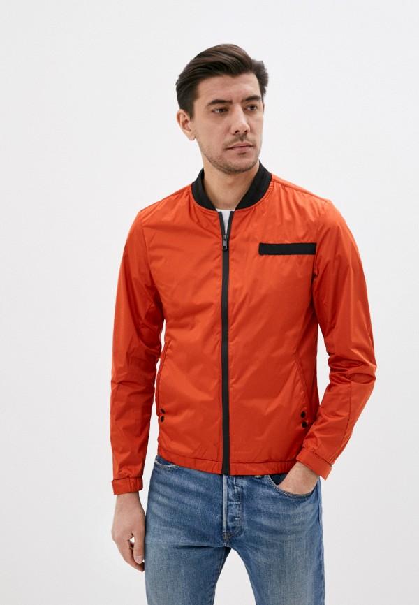 мужская ветровка jackets industry, оранжевая