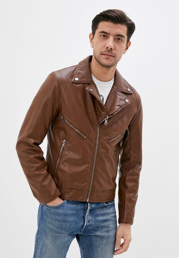мужская куртка jackets industry, коричневая