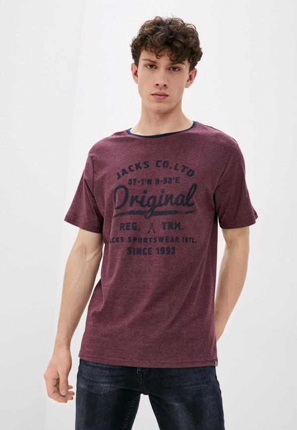 мужская футболка jack's sportswear intl, бордовая