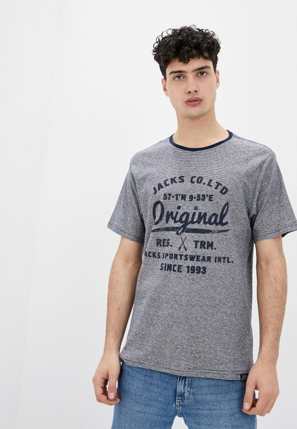 мужская футболка с коротким рукавом jack's sportswear intl, синяя