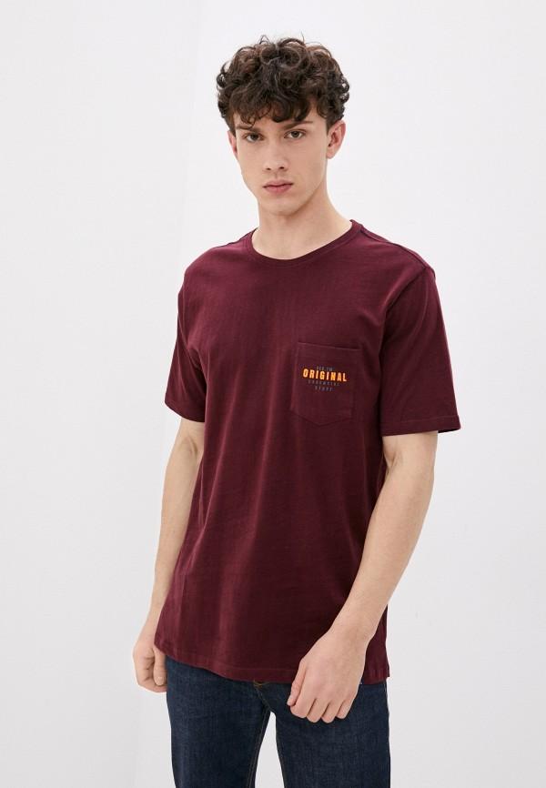 мужская футболка с коротким рукавом jack's sportswear intl, бордовая