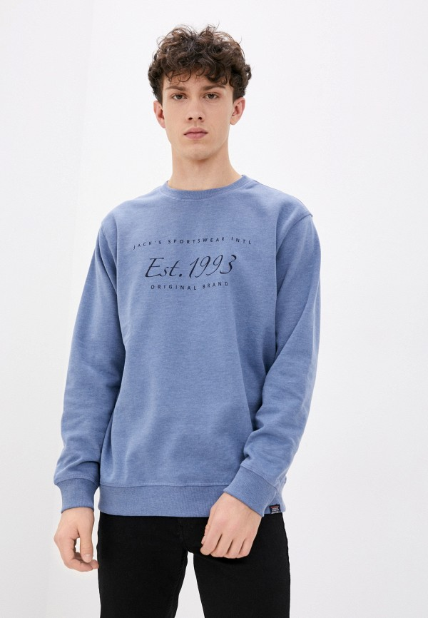 мужской свитшот jack's sportswear intl, голубой