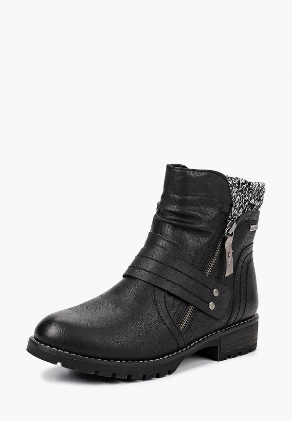 женские ботинки jana, черные