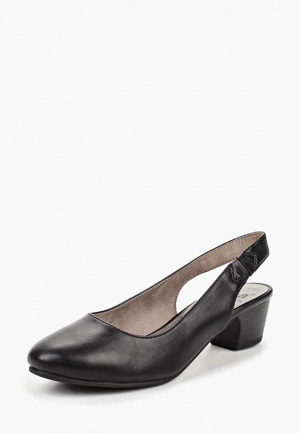 Фото 2 - женские туфли Jana черного цвета
