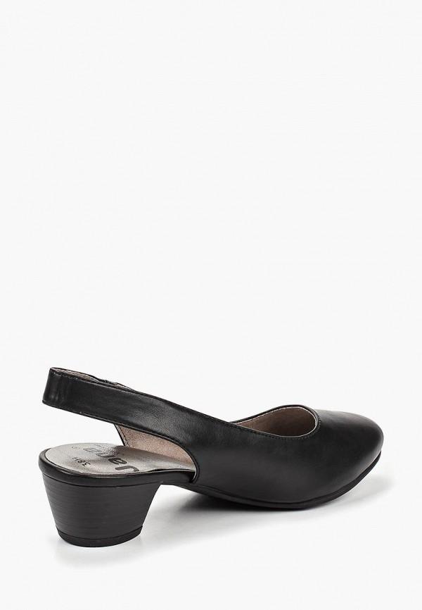 Фото 3 - женские туфли Jana черного цвета
