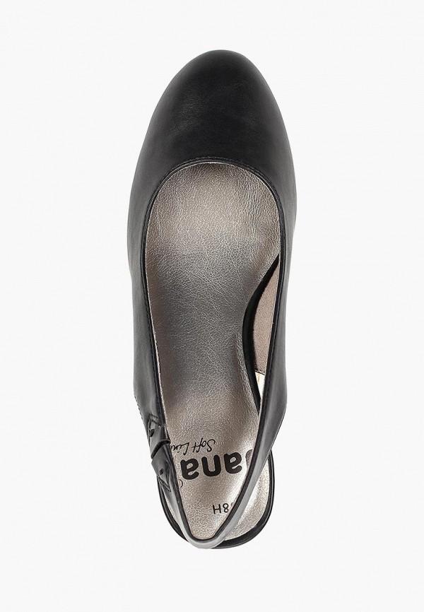 Фото 4 - женские туфли Jana черного цвета
