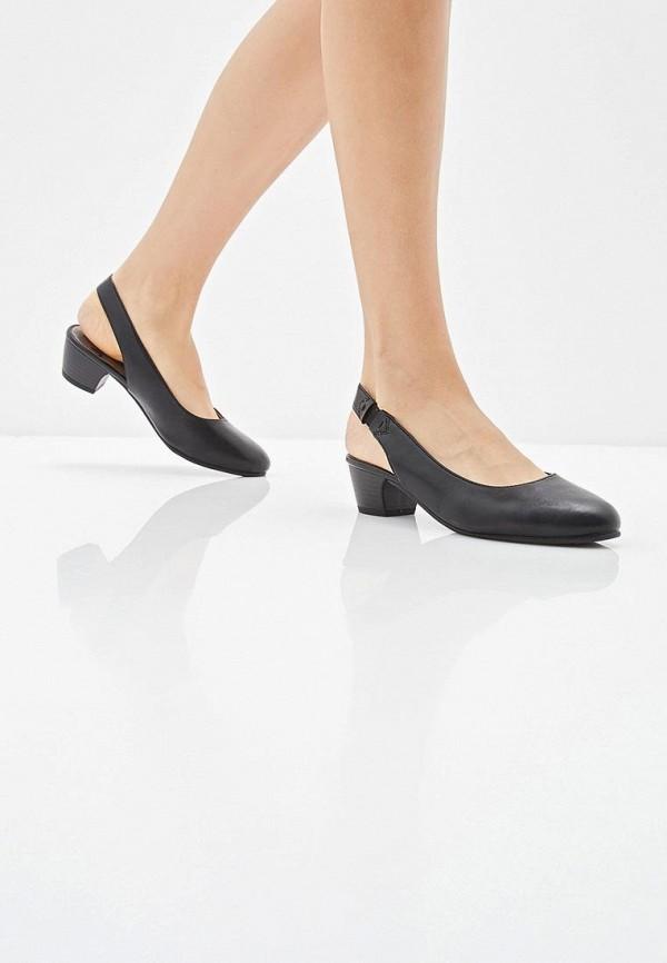 Фото 6 - женские туфли Jana черного цвета