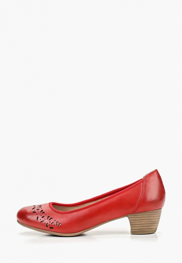 женские туфли jana, красные