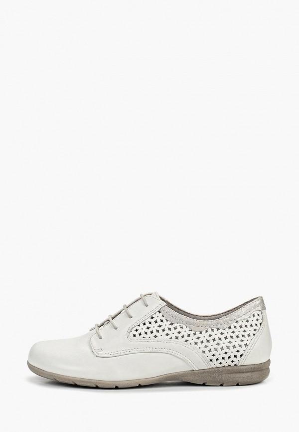 женские ботинки jana, белые