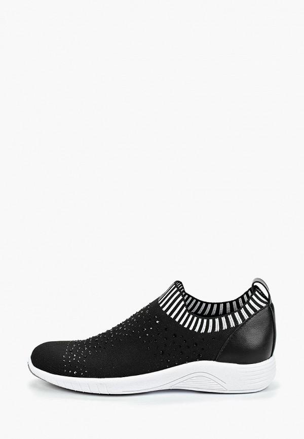 Фото - женские кроссовки Jana черного цвета