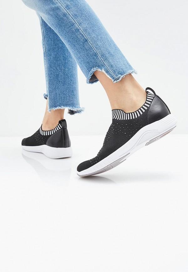 Фото 6 - женские кроссовки Jana черного цвета