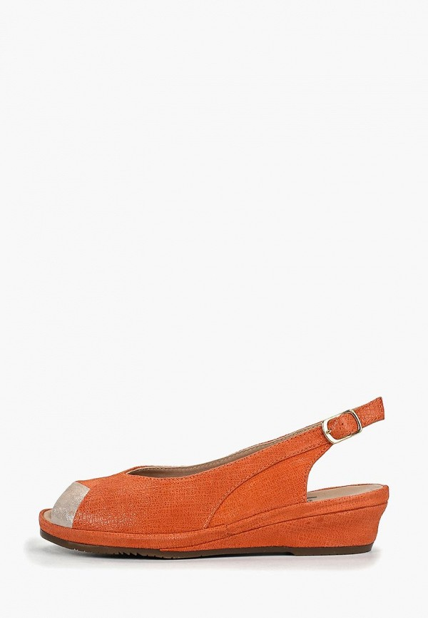 женские босоножки jana, оранжевые