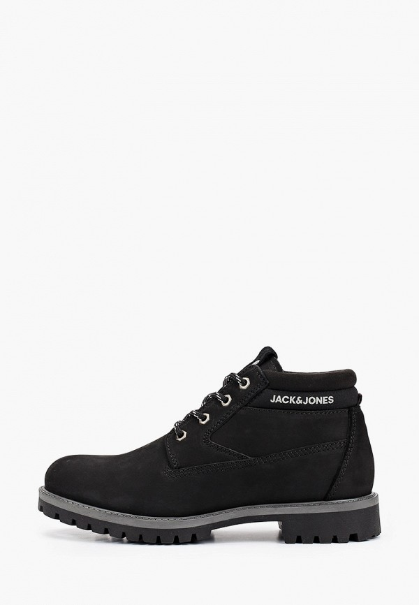 мужские высокие ботинки jack & jones, черные