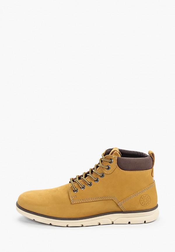 мужские ботинки jack & jones, желтые