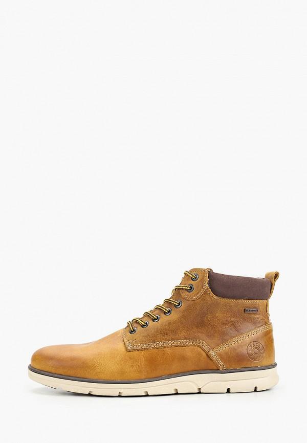 мужские высокие ботинки jack & jones, желтые