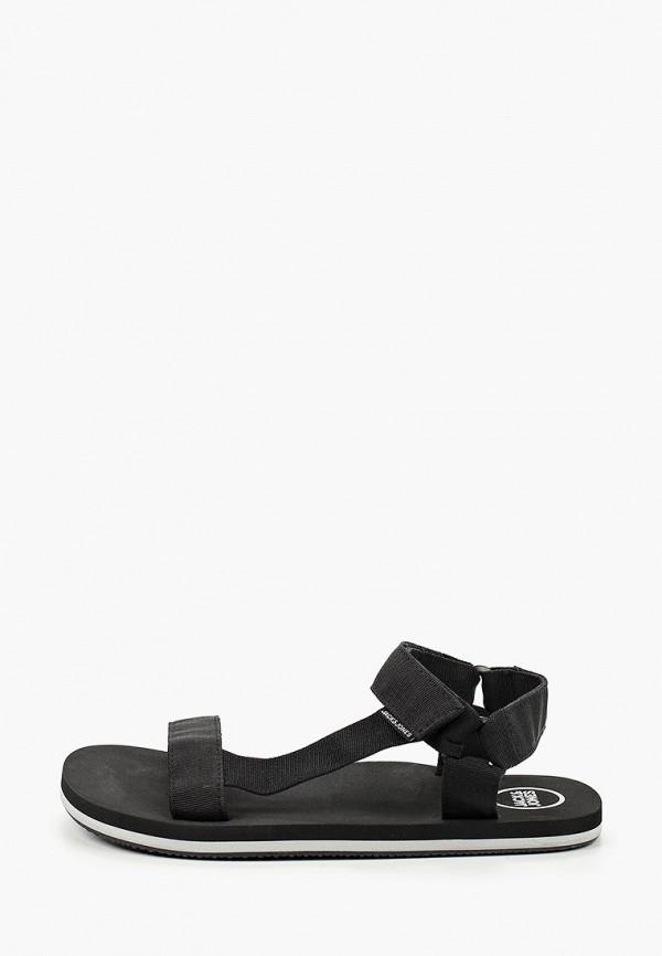 мужские сандалии jack & jones, черные