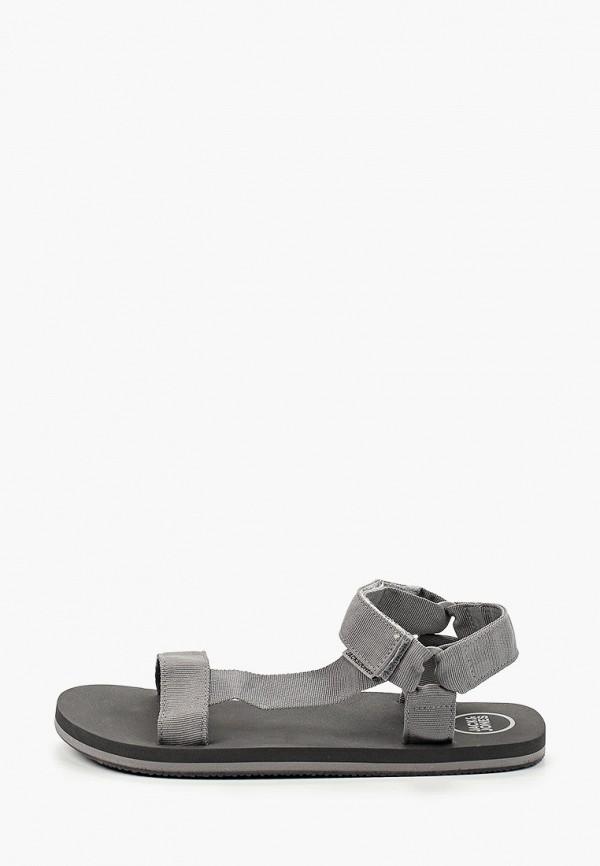 мужские сандалии jack & jones, серые