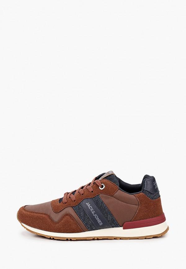 мужские кроссовки jack & jones, коричневые