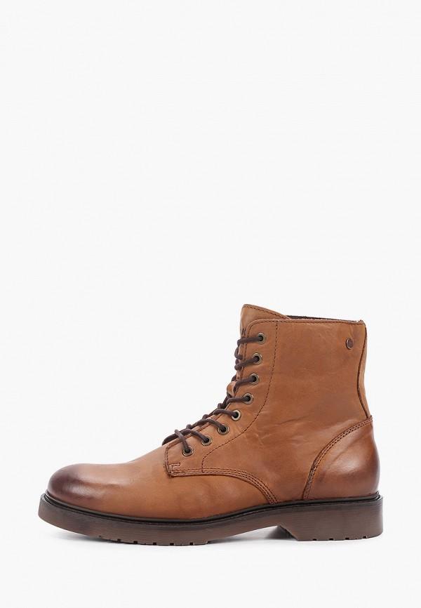 мужские ботинки jack & jones, коричневые