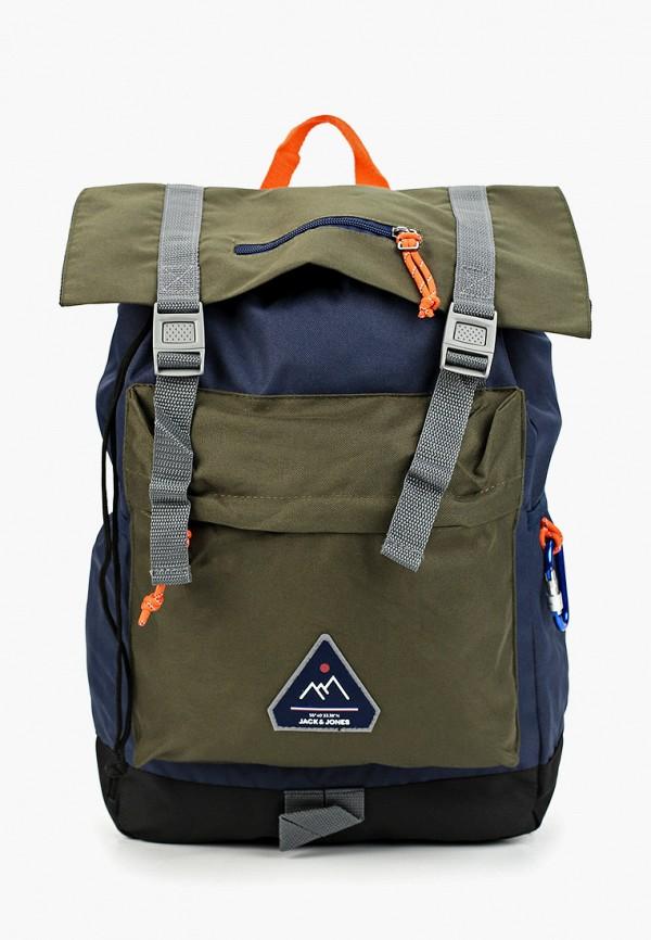 мужской рюкзак jack & jones, разноцветный