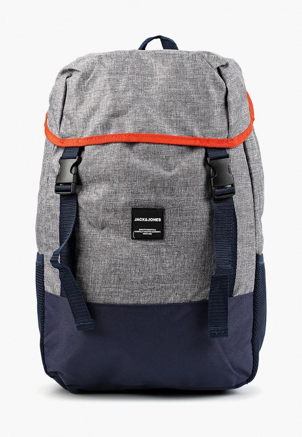 мужской рюкзак jack & jones, серый