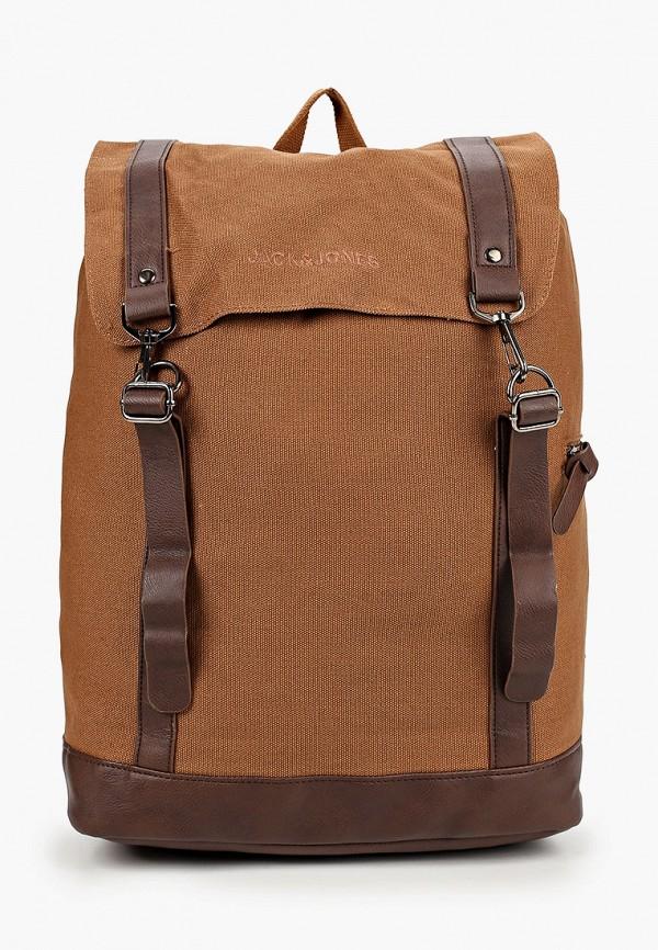 мужской рюкзак jack & jones, коричневый