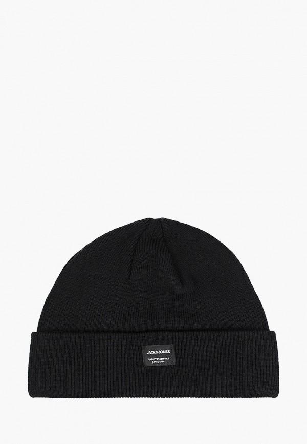 шапка jack & jones для мальчика, черная