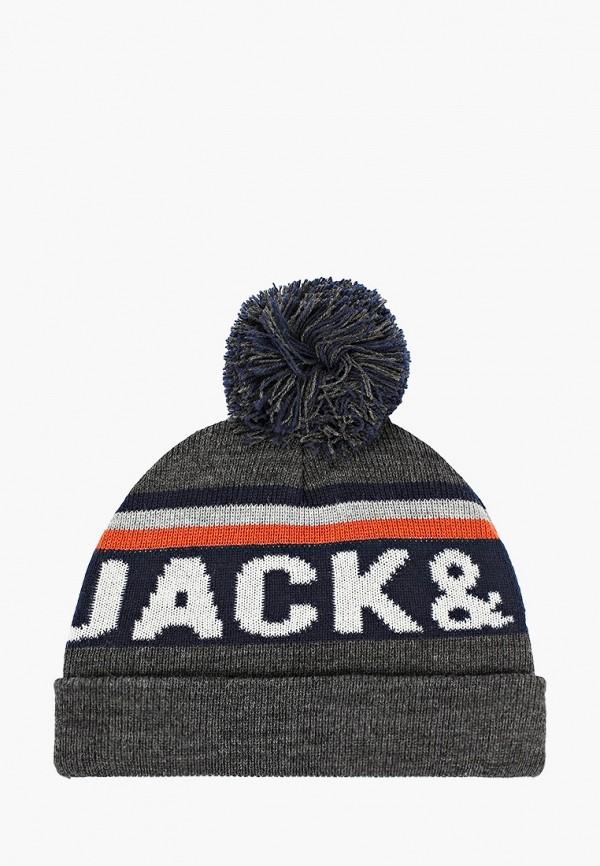 шапка jack & jones для мальчика, серая