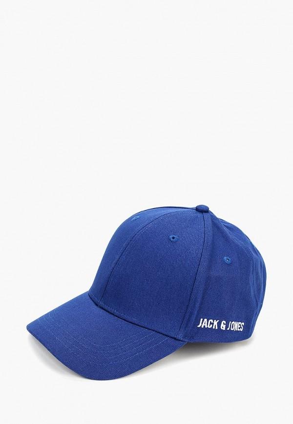 мужская бейсболка jack & jones, синяя
